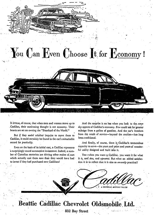 Vintage Ad: You Can Even Choose it for Economy