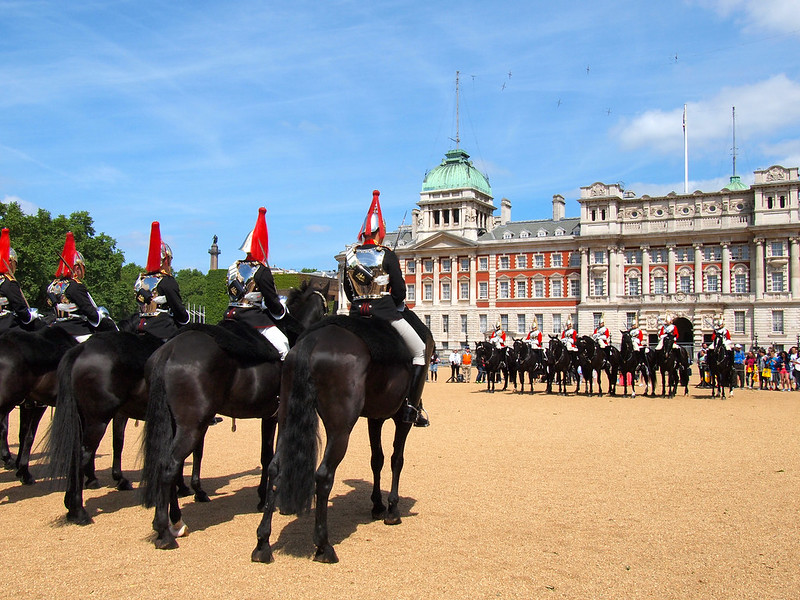Changing of the guard at Horseguards Parade