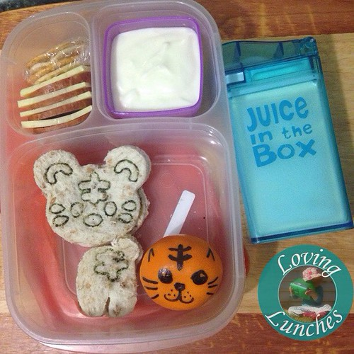 Loving a tigeriffic lunch for Miss M… are you celebrating #internationaltigerday ? We are! With @easylunchboxes @cutezcute and #juiceinthebox from @boardwalkimports