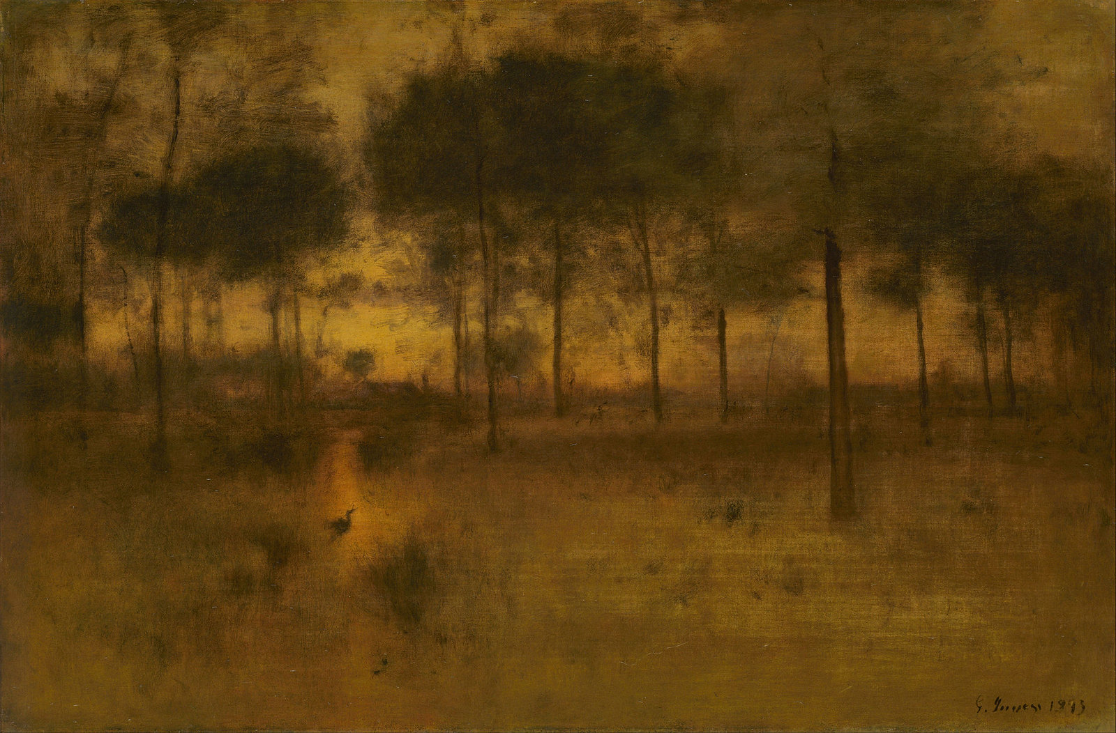 The Home of the Heron by George Inness, 1893