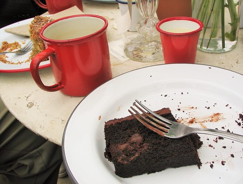 Vegan chocolate cake at the Secret Herb Garden