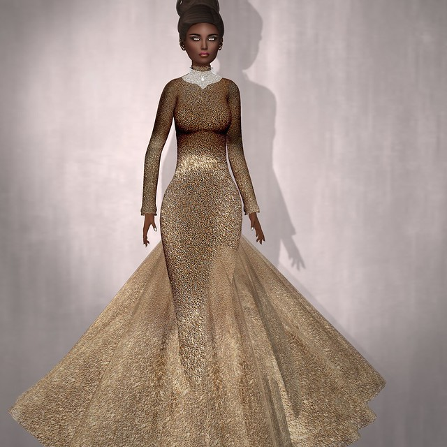 Sascha's Designs - Cici Caramel Gown