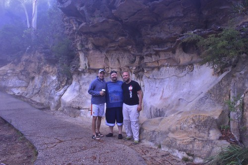 The boys chilling at the Blue Mountains