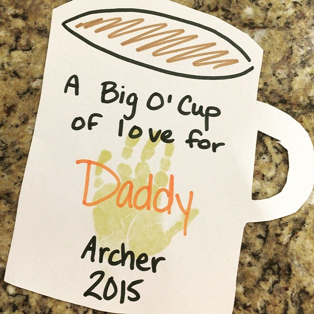 Adorable craft from preschool for Father's Day by bartlewife