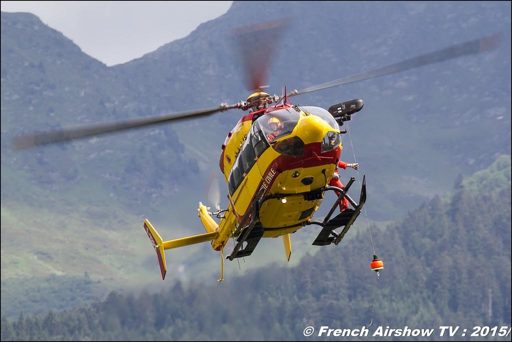 EC-145 SC, Sécurité Civile , Dragon 24, Fête aerienne Albertville 2015, Meeting Aerien 2015