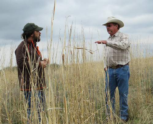 Christian Hagen, science adviser for LPCI, and Bill Barby (right), a Kansas rancher