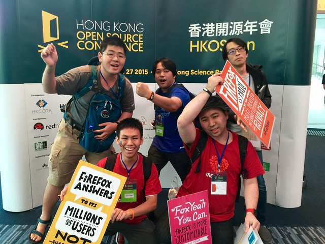 MozTW team @ HKOSCon2015 #FoxYeah