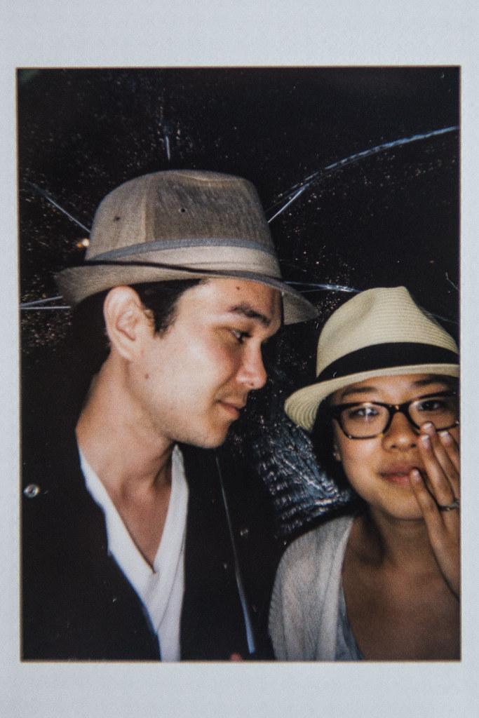 japan instax | gratuitous rain selfie