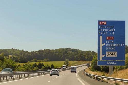 road france sign june landscape highway europe traffic motorway roadtrip autobahn loccitane autopista toll autoroute circulation corrèze masseret a20 limousin autostrada péage 2015 meteorry alpc perpezaclenoir aquitainelimousinpoitoucharentes