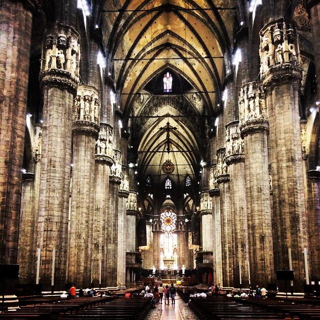 Inside the Duomo of Milan