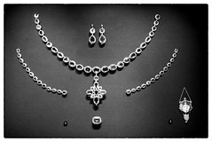jewellery, gemstone, chain, necklace, pendant, black-and-white,