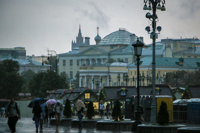 Rainy evening in Moscow, Russia 雨の日のモスクワ