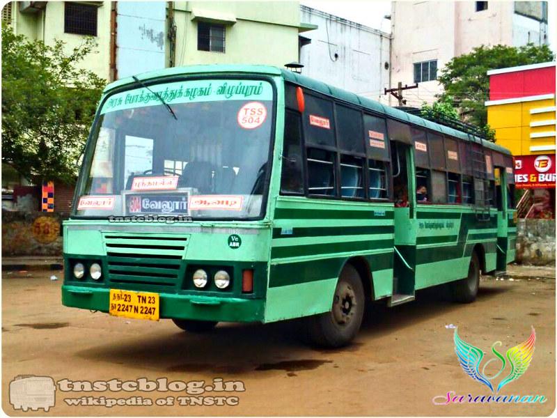 TN-23N-2247 of Ambur Depot Route 504 Vellore - Avadi via Walaja, Sriperumbudur, Poonamallee.