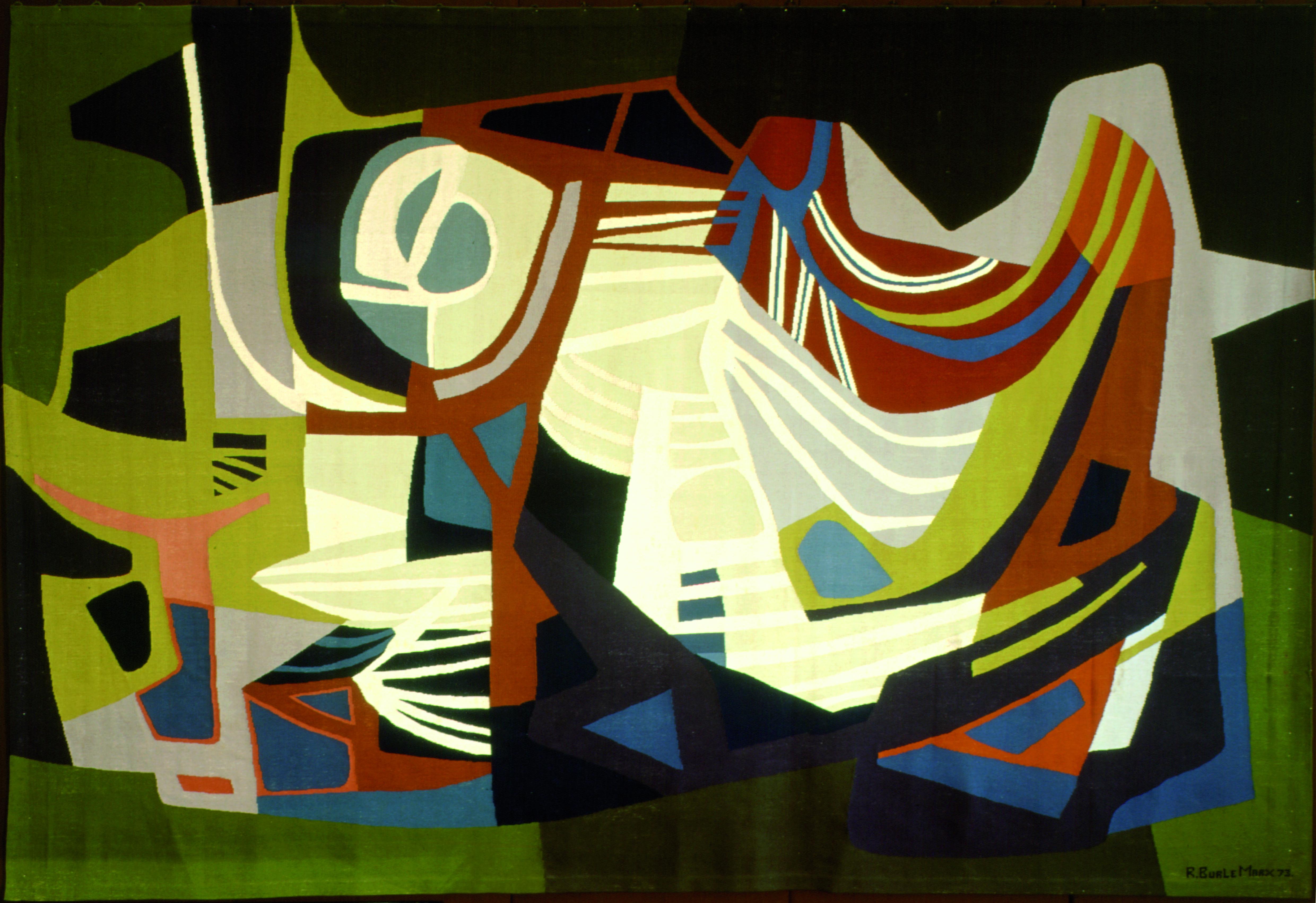 Sem título Autor: Roberto Burle Marx Ano: 1973 Técnica: Tapeçaria  Dimensões: 328m x 483m