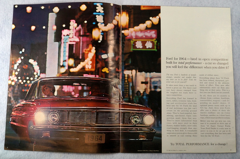 RD12665 1964 Ford Galaxie 500 XL Custom Country Squire Color Brochure Catalog DSC08647