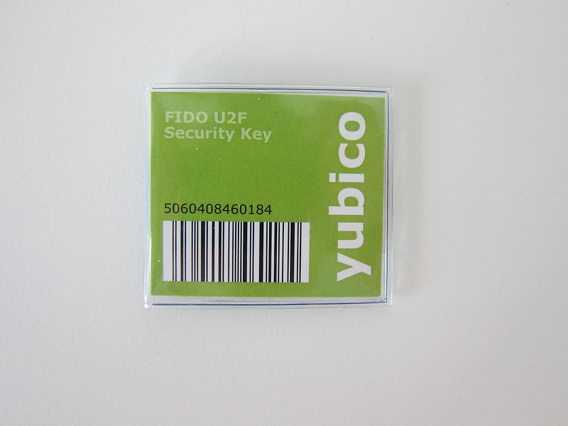 Yubico FIDO U2F Security Key - Packaging Front