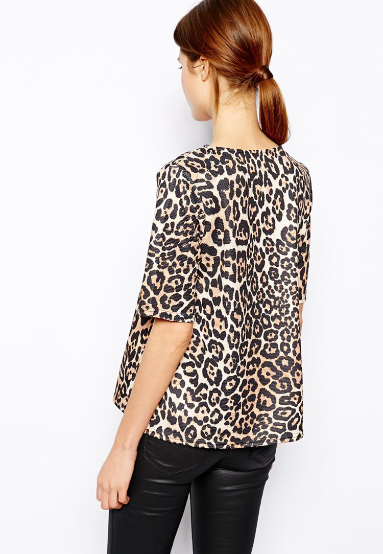 ASOS Textured T-Shirt in Animal Print