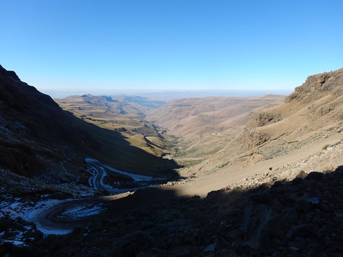 Snow in the shade, Sani Pass Switchbacks