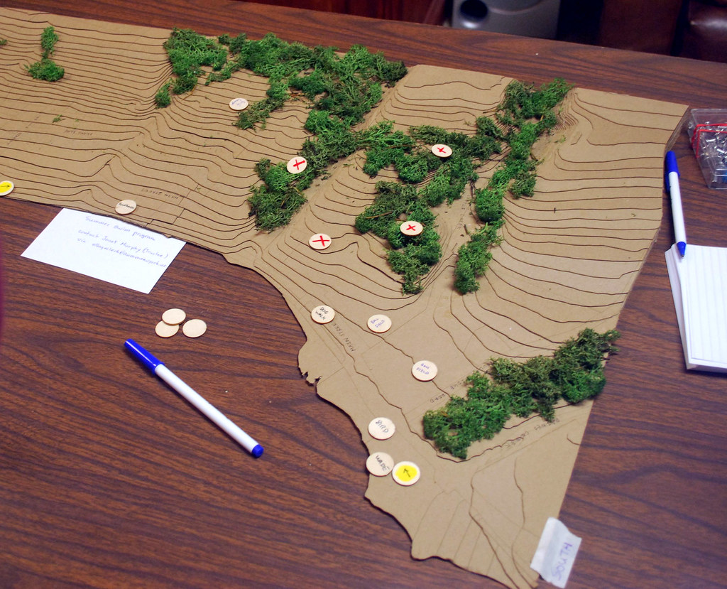 Detail of map model for Aurora Community Trail.
