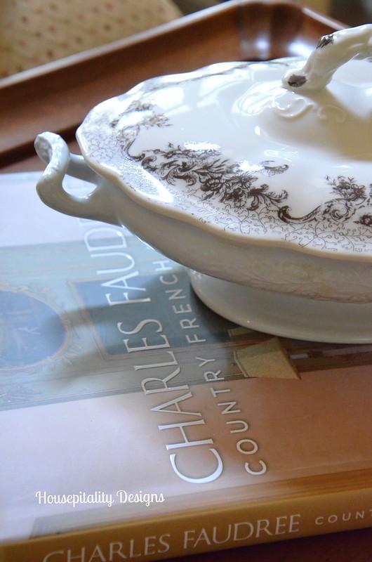 Ironstone tureen/transferware lid-Housepitality Designs