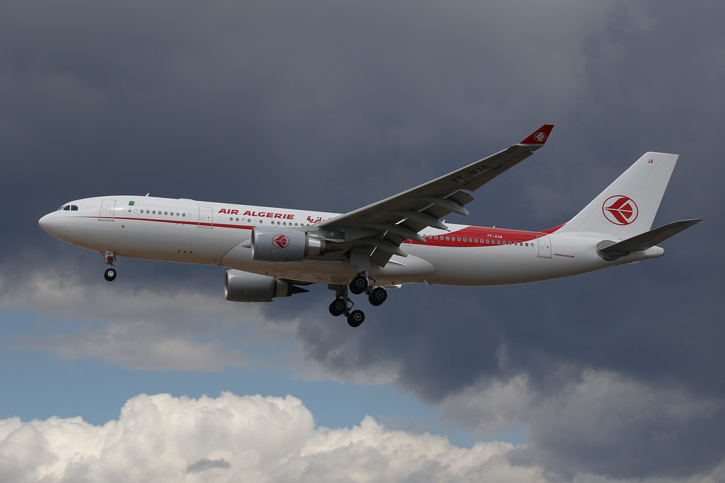 Air Algerie Airbus A330 (reg. 7T-VJA) in London