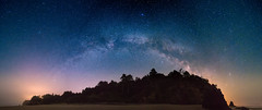 Milky Way Panorama at Hug Point State Park