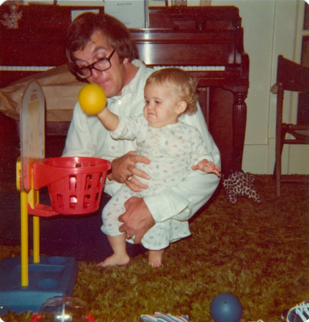 3-1974-Pop and Rachel make faces and baskets