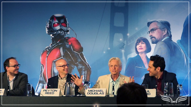 The Establishing Shot: MICHAEL DOUGLAS TALKS THE MAGIC OF CGI & ROMANCING THE STONE PREQUELS @ THE ANT-MAN EUROPEAN PRESS CONFERENCE - CORINTHIA HOTEL LONDON