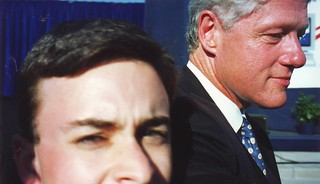 Flashback: Selfie with President Clinton