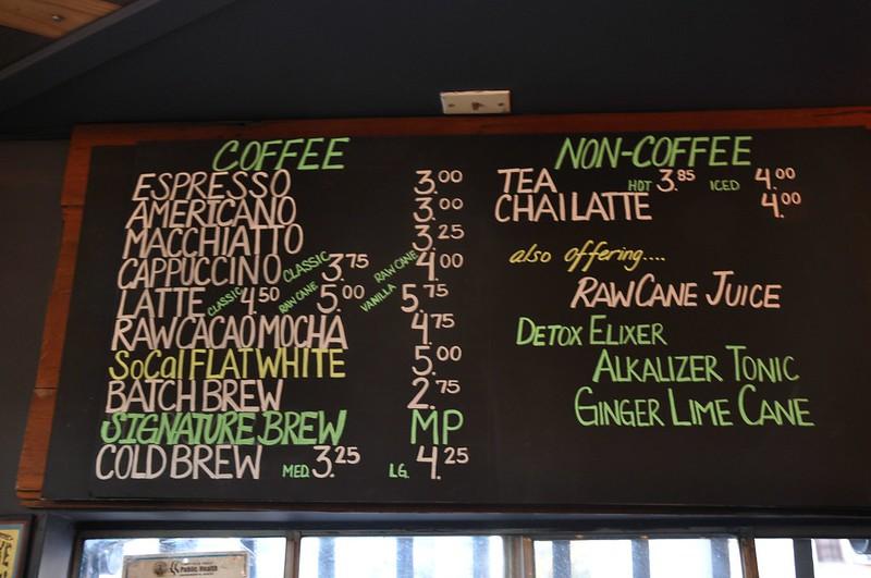 Cafesito Organico menu