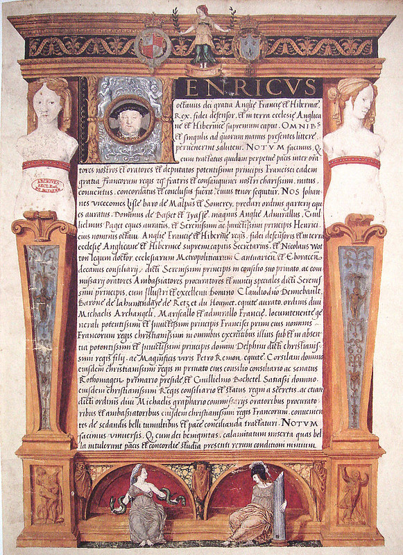 Ratification of the Treaty of Ardres by Henry VIII