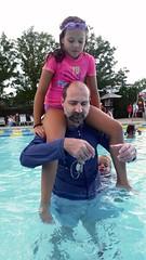 Sasha & Daddy In The Pool