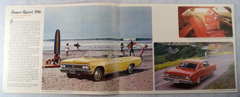 RD12674 1966 Chevy Chevrolet Chevelle Super Sport SS Malibu Brochure Catalog DSC08664