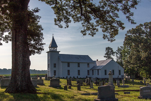 morning summer 3 tower history church window glass cemetery field grass fence neck virginia oak corn highway iron cross bell farm united headstone lawn steeple stained route va land methodist northern calvary wrought richmondcounty northernneck willowoak emmerton