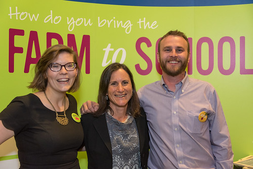 Matt Russell (right) with his USDA colleagues Christina Conell (left) and Deborah Kane (center), at the 2015 USDA Farm to School Grantee Gathering in Denver, CO