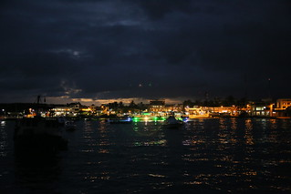 Puerto Ayora at night, Isla Santa Cruz, Galapagos