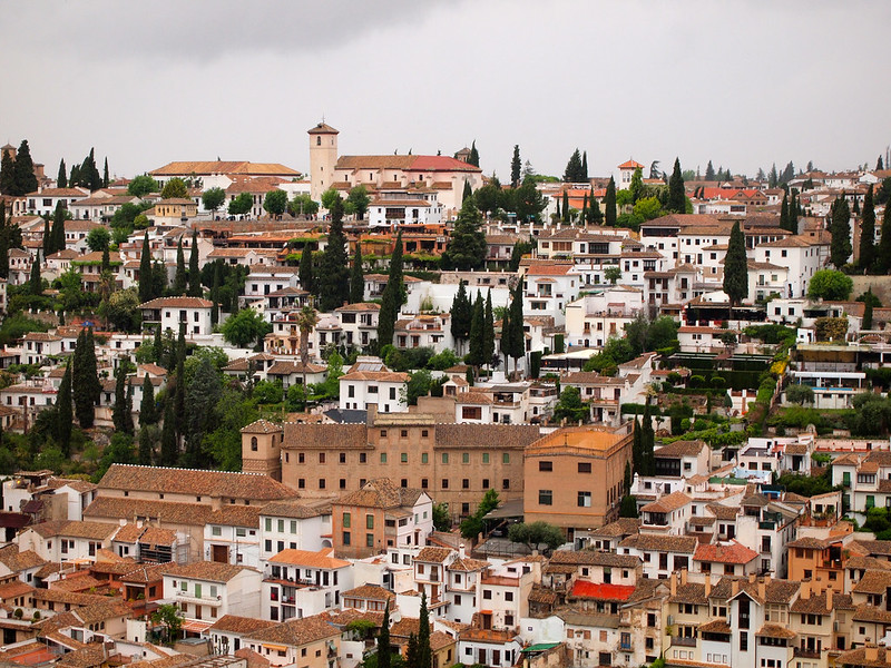 The Albaicin as seen from the Alhambra in Granada, Spain