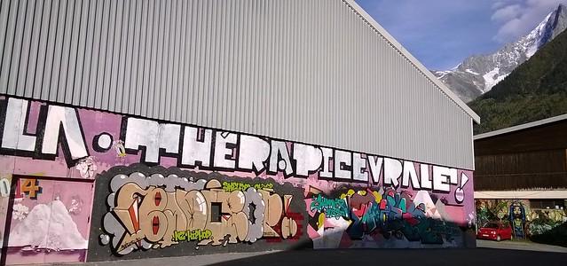 warehouse graffiti chamonix france