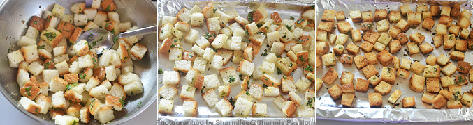 How to make homemade croutons - Step3