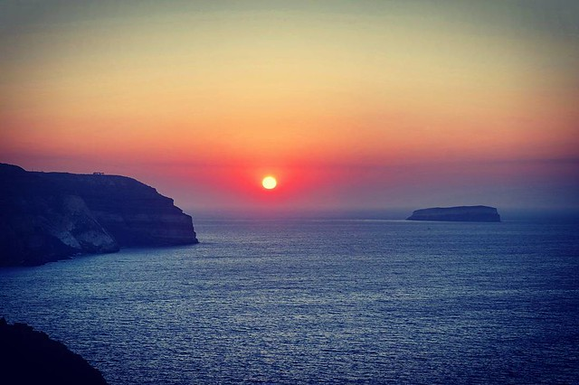 Sunset in Santorini