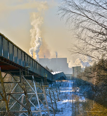 Winter, conveyor and the steelworks ❄