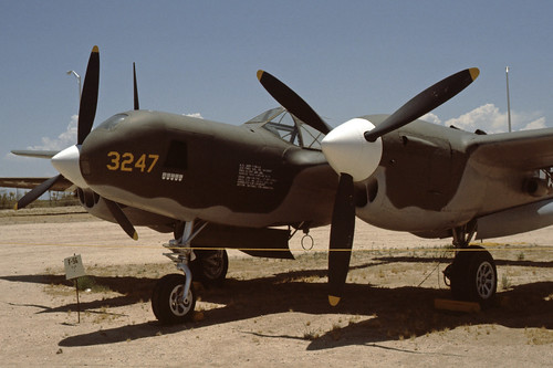 Lockheed F-5G (P-38L) Lightning at the Pima Air & Space Museum, 1980