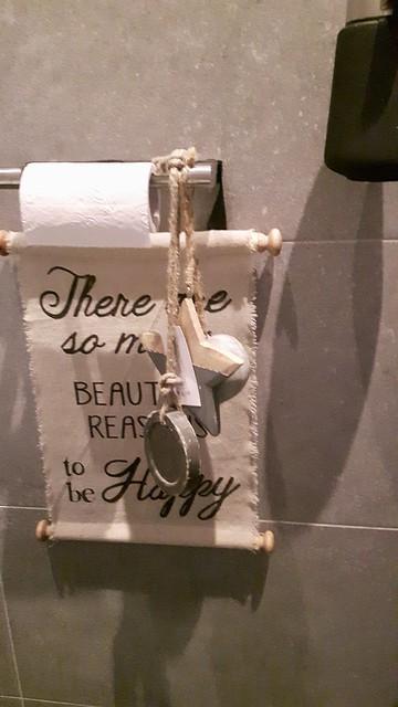 Toilet decoratie