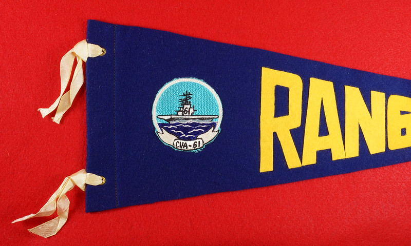 RD15149 Vintage USS Ranger CVA-61 Pennant DSC08472
