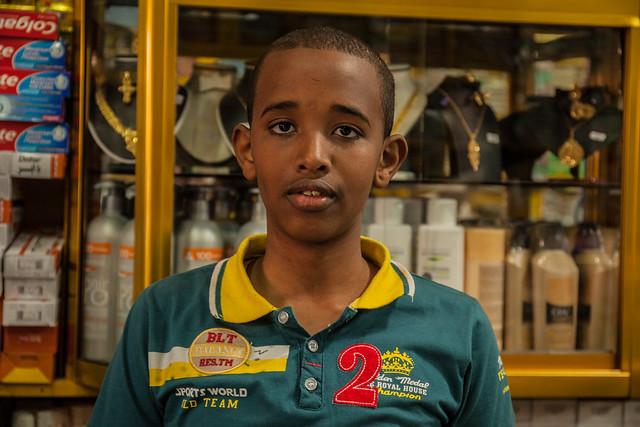 Portrait in Hargeisa Shop