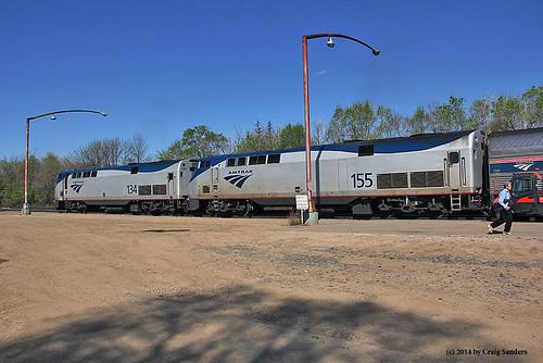 amtrak northdakota trainstations railroadstations traindepots minotnorthdakota railroaddepots amtraktrains amtrakstations amtrakp42locomotives amtrakp42no155 amtrakp42no134
