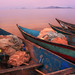 Colorful fishing boats on Lake Victoria, Kenya