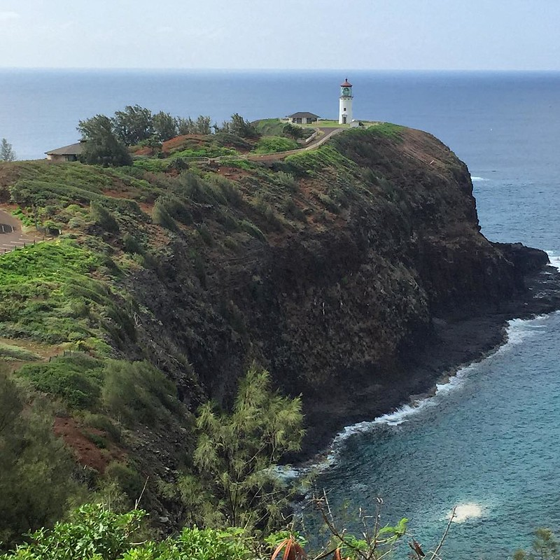 Shine Your Light On #kauai #ocean #Hawaii #cliff #lighthouse