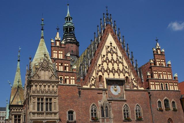 Hotel de ville de Wroclaw en Pologne