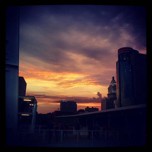 Another beautiful Saturday evening in downtown Cincinnati...